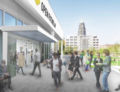 Open Future Lab – Ein Raum für Gesellschaft, Wissenschaft, Wirtschaft und Politik in der Robotron-Kantine