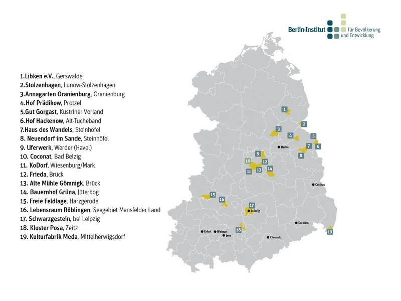 Urbane Dörfer Ostdeutschland