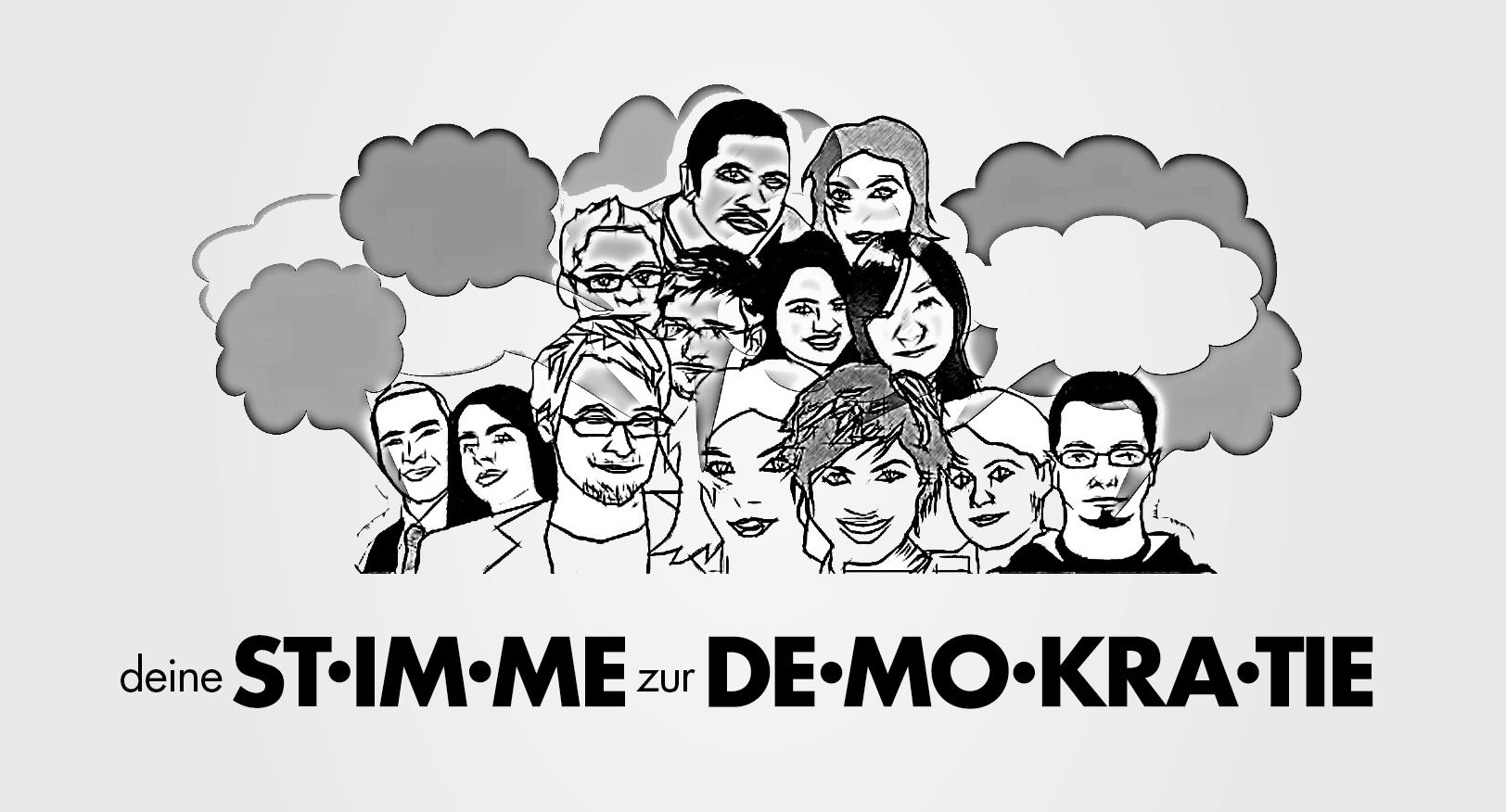 Deine Stimme zur Demokratie