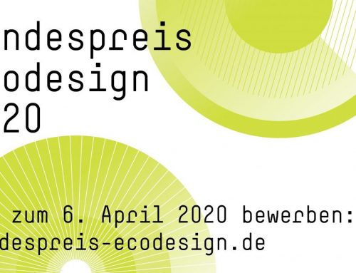Bundespreis Ecodesign 2020 – bis 6.April 2020 bewerben!
