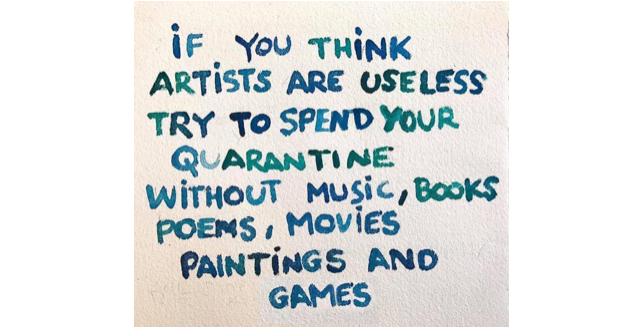 Quarantine without Artists